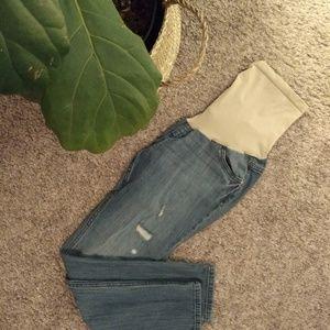 🤰L Indigo Blue Premium Maternity Jeans